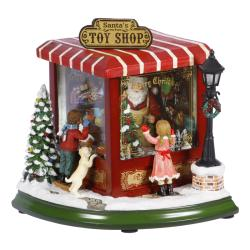 Holiday Toy Shop Musical Figurine