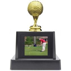 TAO F130 Golf Ball Trim Digital Photo Trophy