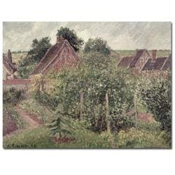 Camille Pissarro 'Landscape with Cottage Roofs 1889' Art