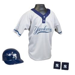 Franklin Sports Kids' Blue/White Polyester MLB Yankees Team Set