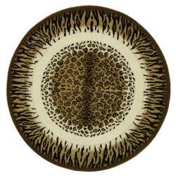Safavieh Handmade Safari Leopard Print Wool Rug (8' Round)