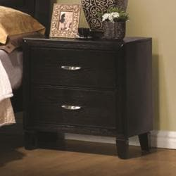 Calogera Jet Black 2-drawer Nightstand