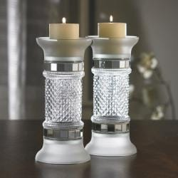 Accents by Jay 11-inch Glass Candle Holder (Set of 2)
