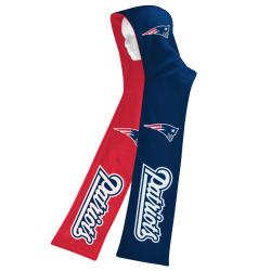 New England Patriots Fleece Reversible Hooded Scarf