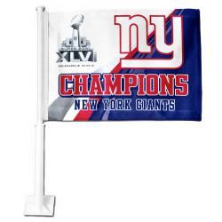 New York Giants Super Bowl XLVI Champion Car Flag 8821376