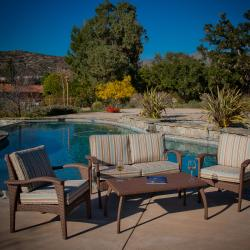 Honolulu Outdoor Brown Wicker Sofa Set