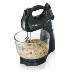 Hamilton Beach 64698 Black Power Deluxe Hand/ Stand Mixer