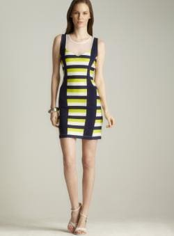Romeo & Juliet Couture Stripe Scuba Tank Dress