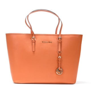 MICHAEL Michael Kors 'Jet Set' Medium Leather Travel Tote