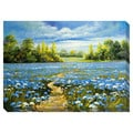 Blue Blossoms Oversized Gallery Wrapped Canvas