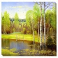 Autumn Lake Oversized Gallery Wrapped Canvas