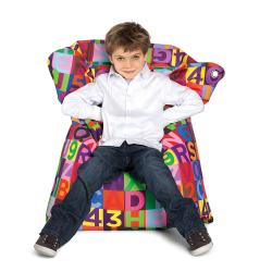 Sitting Bull Mini ABC Fashion Bean Bag Chair