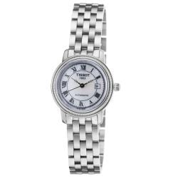 Tissot Women's 'Bridgeport' Mother of Pearl Dial Stainless Steel Watch 9025774