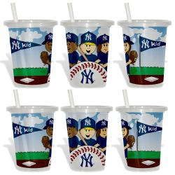 New York Yankees Sip and Go Cups (Pack of 6) 8873611