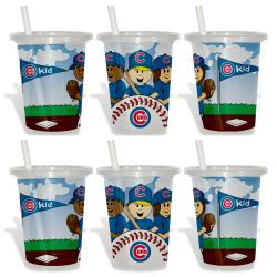 Chicago Cubs Sip and Go Cups (Pack of 6) 8873614