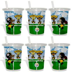 Pittsburgh Steelers Sip and Go Cups (Pack of 6) 8873616