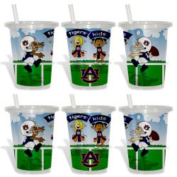 Auburn Tigers Sip and Go Cups (Pack of 6) 8873795