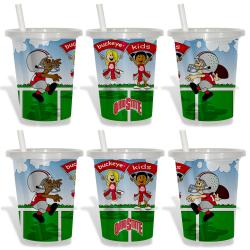 Ohio State Buckeyes Sip and Go Cups (Pack of 6) 8873798