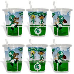 Michigan State Spartans Sip and Go Cups (Pack of 6) 8873799