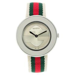 Gucci Women's YA129411 U-Play Medium Multi-Color Nylon Watch