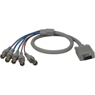 QVS 2ft VGA/RGB HD15 Male to 5 BNC/RGBHV Female PC/HDTV Cable