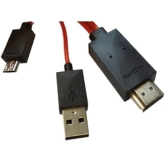 4XEM Micro USB 11-Pin To HDMI MHL Adapter Cable For Samsung Galaxy S3