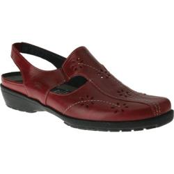 Women's Spring Step Asha Red Leather