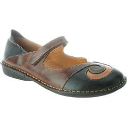 Women's Spring Step Cosmic Black/Brown Combo Leather
