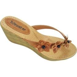 Women's Tidewater Sandals Flowers Tan