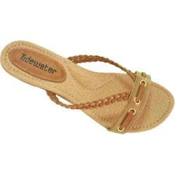 Women's Tidewater Sandals Low Wedge Tan
