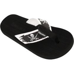 Children's Tidewater Sandals Pirate Flag Black/White