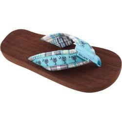 Women's Tidewater Sandals Turquoise Palmetto Madras Turquoise/Navy