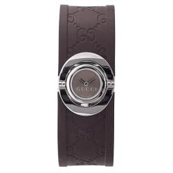 Gucci Women's Brown Twirl Rubber Watch