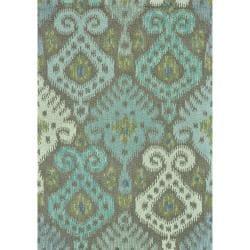 Hand-tufted Montague Grey/ Mist Wool Rug (2'6 x 7'6)