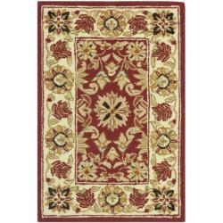 Safavieh Hand-hooked Chelsea Fall Tabriz Red Wool Rug (1'8 x 2'6)
