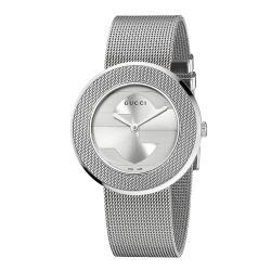 Gucci Women's YA129407 'U-Play' Medium Stainless Steel Mesh Watch 9459556