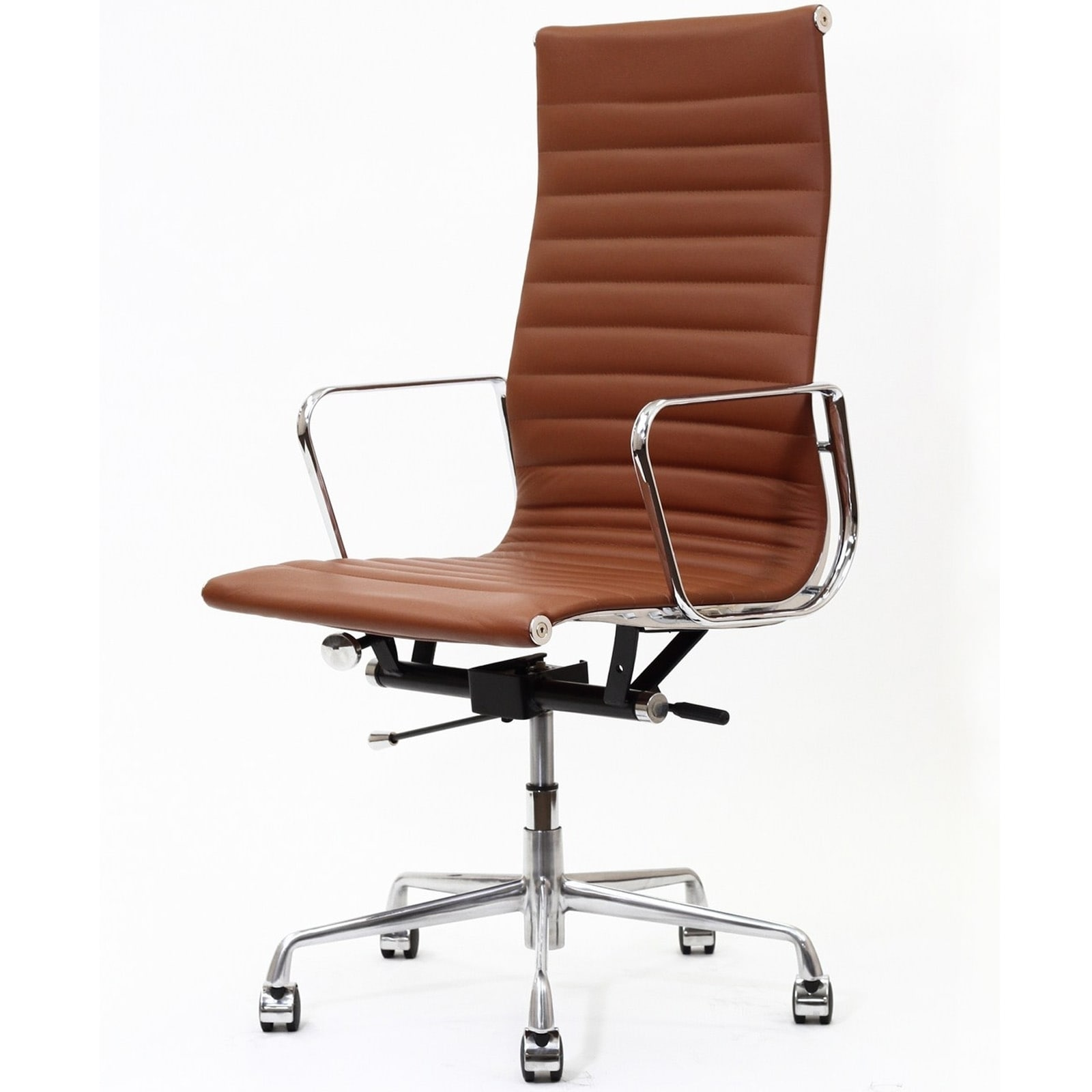 White Leather Modern fice Chair D