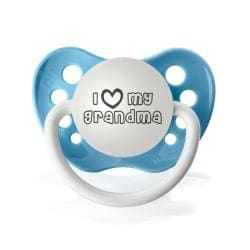 Personalized Pacifiers I Heart My Grandma Pacifier in Light Blue