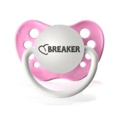 Personalized Pacifiers Heartbreaker Pacifier in Hot Pink