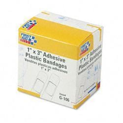 First Aid Only Plastic Adhesive Bandages-1 x 3-
