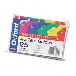 Oxford Card Guides- Alpha- 1/5 Tab-