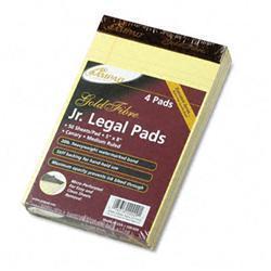 Ampad Gold Fibre Writing Pads Jr. Legal Rule 5 x