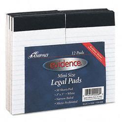Ampad Evidence Perf Top Narrow/Red Margin Rule 3