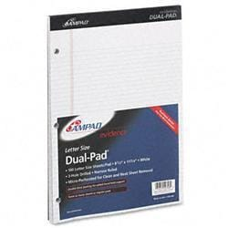 Ampad Evidence Dual Narrow/Margin Ruled Pad