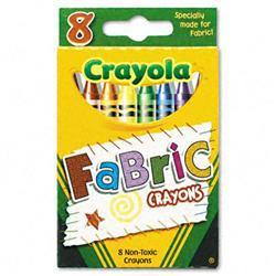Binney & Smith Fabric Crayons Wax Eight Colors