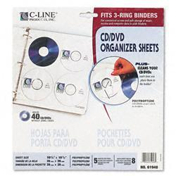 C-Line Two-Sided CD/DVD Refill Pages for Ring
