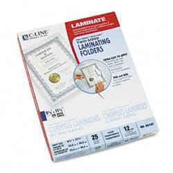 C-Line Quick Cover Laminating Folders 12mm 9-1/8