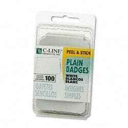 C-Line Self-Adhesive Name Badges Plain-Style 2 x