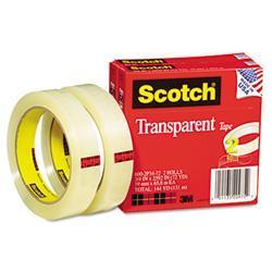 3M Transparent Tape 600-2P34-72 .75 X 2592 3