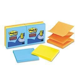 3M Super Sticky Pop-Up Refill 3 x 3 4 Neon